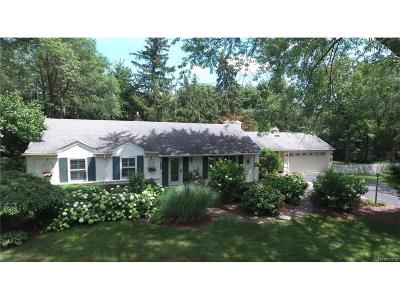 Bloomfield Twp Single Family Home For Sale: 6485 Thurber Road