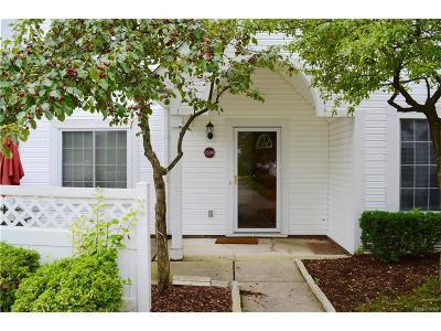 Farmington, Farmington Hills Condo/Townhouse For Sale: 22295 Atlantic Pointe Street #108