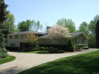 Farmington Hills Single Family Home For Sale: 37657 Rhonswood