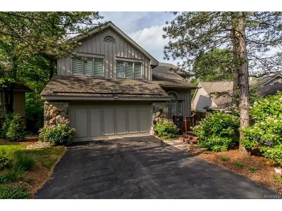 West Bloomfield, West Bloomfield Twp Condo/Townhouse For Sale: 4896 Woodcliff Hill Road N