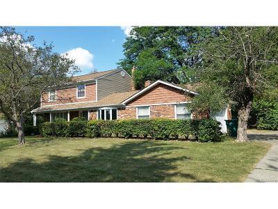 Novi Single Family Home For Sale: 22000 Taft