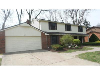 Bloomfield Twp Single Family Home For Sale: 6978 Cedarbrook Drive