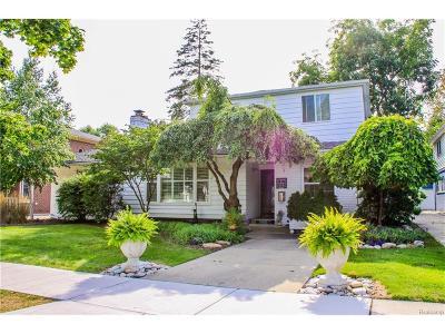 Birmingham, Bloomfield Hills Single Family Home For Sale: 1510 Pierce Street