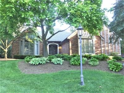 Bloomfield Twp Condo/Townhouse For Sale: 5587 Pine Brooke Court #4