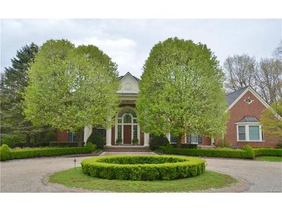 Bloomfield Hills Single Family Home For Sale: 1201 Trowbridge Road