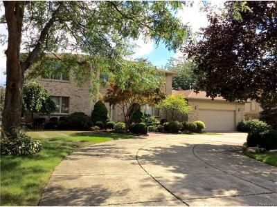 Farmington Hills Single Family Home For Sale: 39205 Wilton Court