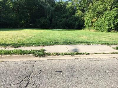 Pontiac MI Residential Lots & Land For Sale: $6,000