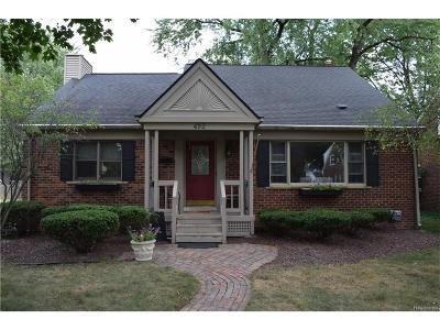 Plymouth Single Family Home For Sale: 492 Arthur Street