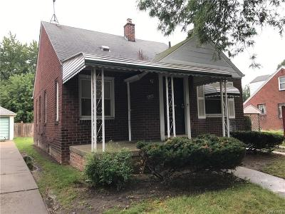Detroit MI Single Family Home For Sale: $29,900