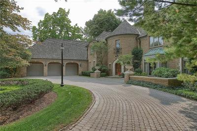 Bloomfield Hills, Bloomfield Twp Single Family Home For Sale: 3424 Franklin Road