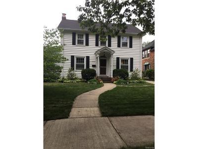 Grosse Pointe Park Single Family Home For Sale: 1409 Harvard Road