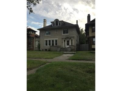 Detroit Single Family Home For Sale: 305 E Grand Boulevard