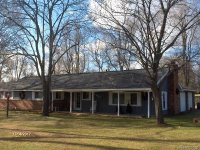 City Of The Vlg Of Clarkston, Clarkston, Independence, Independence Twp Single Family Home For Sale: 6565 Walters Road