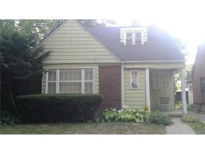Detroit MI Single Family Home For Sale: $62,000