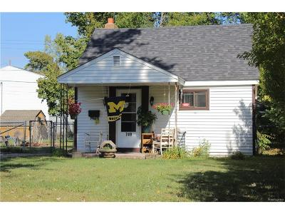 Ypsilanti Single Family Home For Sale: 749 Mildred Street