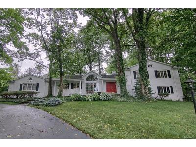 Bloomfield Twp Single Family Home For Sale: 1266 Marymar Lane