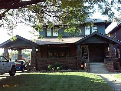 Detroit Single Family Home For Sale: 1756 Chicago Boulevard