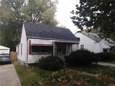 Detroit MI Single Family Home For Sale: $15,000