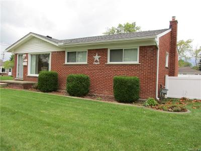 Dearborn Heights Single Family Home For Sale: 5721 Plainfield Street