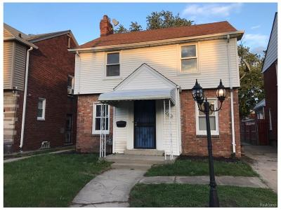 Detroit Single Family Home For Sale: 18670 Greenlawn Street