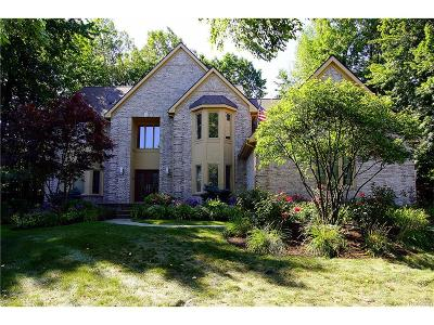 West Bloomfield, West Bloomfield Twp Single Family Home For Sale: 3409 Wildwood Court