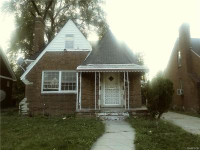 Detroit Single Family Home For Sale: 16837 Freeland Street