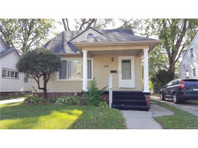 Hazel Park Single Family Home For Sale: 520 E Muir Avenue