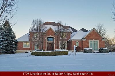 Rochester Hills Single Family Home For Sale: 1779 Lincolnshire Drive