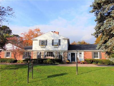 Bloomfield Twp Single Family Home For Sale: 873 N Cranbrook Road