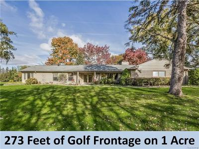 Bloomfield Twp Single Family Home For Sale: 1260 Cedarholm Lane