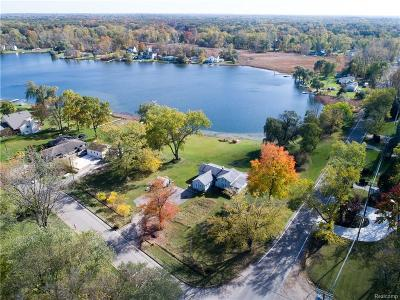 Commerce, Commerce Township, Commerce Twp Single Family Home For Sale: 6100 Carroll Lake Road