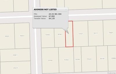 Southfield Residential Lots & Land For Sale: 19137 Goldwin Street