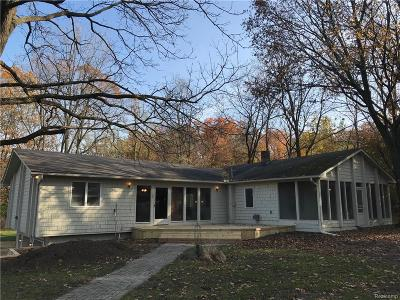 West Bloomfield Twp Single Family Home For Sale: 3245 W Long Lake Road