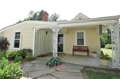 Salem, Salem Twp, Plymouth, Plymouth Twp Single Family Home For Sale: 10250 7 Mile Road