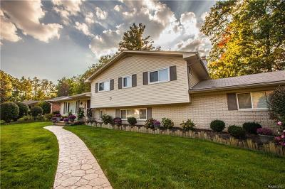 City Of The Vlg Of Clarkston, Clarkston, Independence Twp Single Family Home For Sale: 5541 Warbler Drive