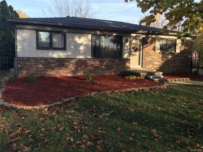 Canton Single Family Home For Sale: 1721 Woodstock Street