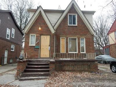 Detroit Single Family Home For Sale: 5943 Yorkshire Road