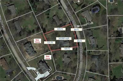 Bloomfield Twp Residential Lots & Land For Sale: 5916 Blandford Road