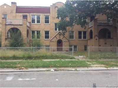 Detroit Multi Family Home For Sale: 13835 La Salle Boulevard