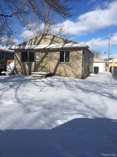 St Clair Shores, Roseville, Clinton Twp, Fraser Single Family Home For Sale: 19557 Heckman