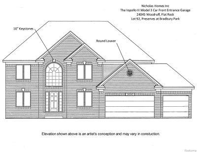 Flat Rock Single Family Home For Sale: 24045 Woodruff