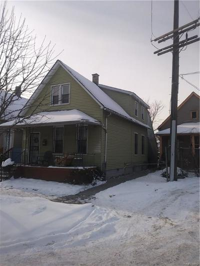 Detroit Single Family Home For Sale: 1733 Military Street
