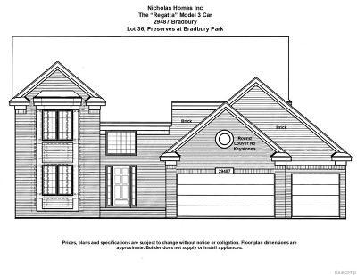Flat Rock Single Family Home For Sale: 29487 Bradbury
