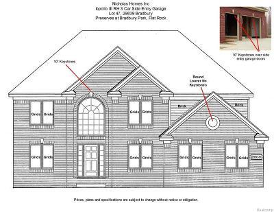 Flat Rock Single Family Home For Sale: 29839 Bradbury