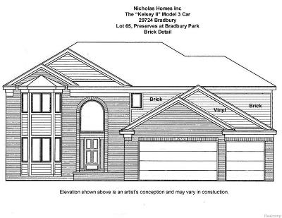 Flat Rock Single Family Home For Sale: 29724 Bradbury