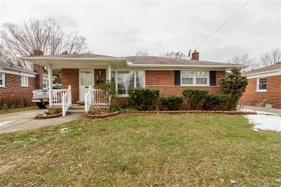 Dearborn, Dearborn Heights Single Family Home For Sale: 8323 Arnold Street
