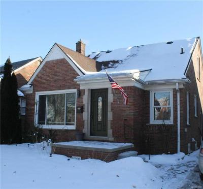 Redford Twp Single Family Home For Sale: 11368 Seminole