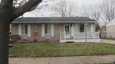 Garden City, Westland, Plymouth Twp, Canton Twp Single Family Home For Sale: 1344 Springer Street