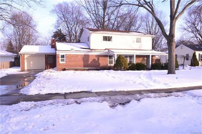 Livonia Single Family Home For Sale: 9344 Hix Road
