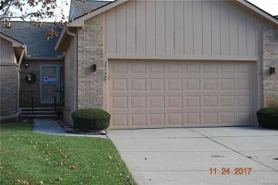 Farmington, Farmington Hills Condo/Townhouse For Sale: 35148 White Pine Trail